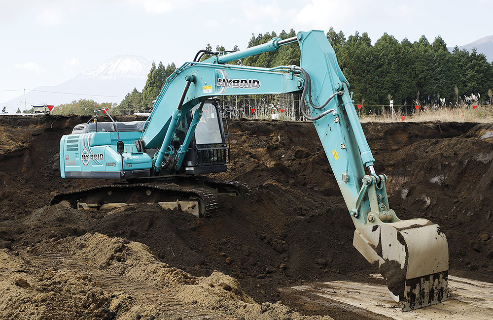 Hybrid Excavator | Innovation | Kobelco Construction Machinery